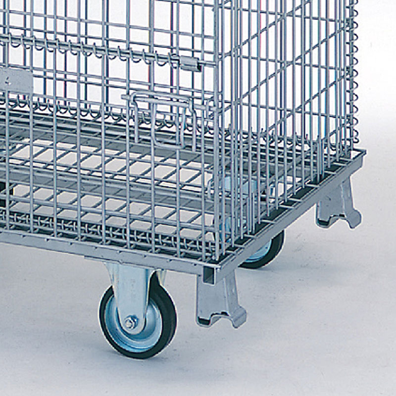 【運搬作業用品-パレット】テイモー ボックスパレット コイルタイプ 1012-C キャスター付 <大型・重量商品>