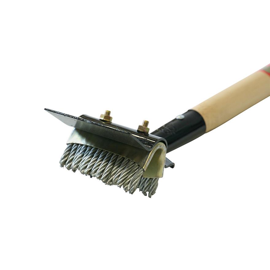 【土木作業用品-シカラップ・スクレーパー・ブラシ】金象印 パネルブラシ 1200柄付