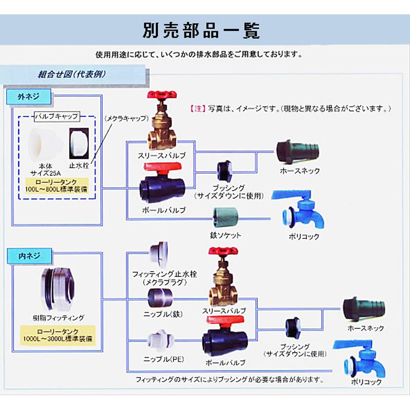 【貯水タンク-ローリータンク】モリマーサム樹脂 業務用ローリータンク SL-500 容量500L 黒 (25Aのバルブキャップ付) <大型・重量商品>