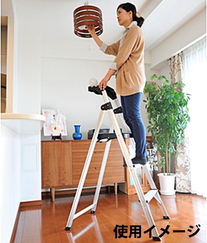 【はしご・脚立・足場台- 脚立】ピカ 上わく付き踏台 MFT-4 <大型・重量商品>