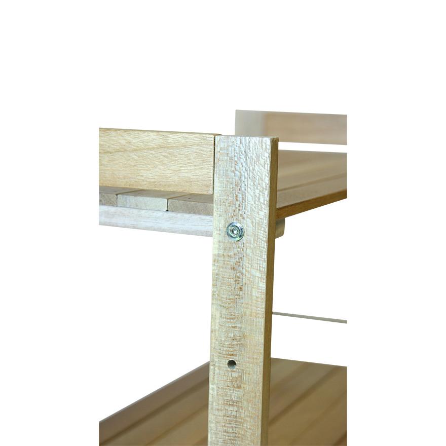 【保管棚・整理棚-木製棚】ウッドラック 3段  NW−3