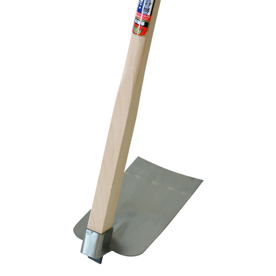 【農作業用品-鍬(くわ)】金象 ステン鋼付菜園鍬 すべりにくい柄付
