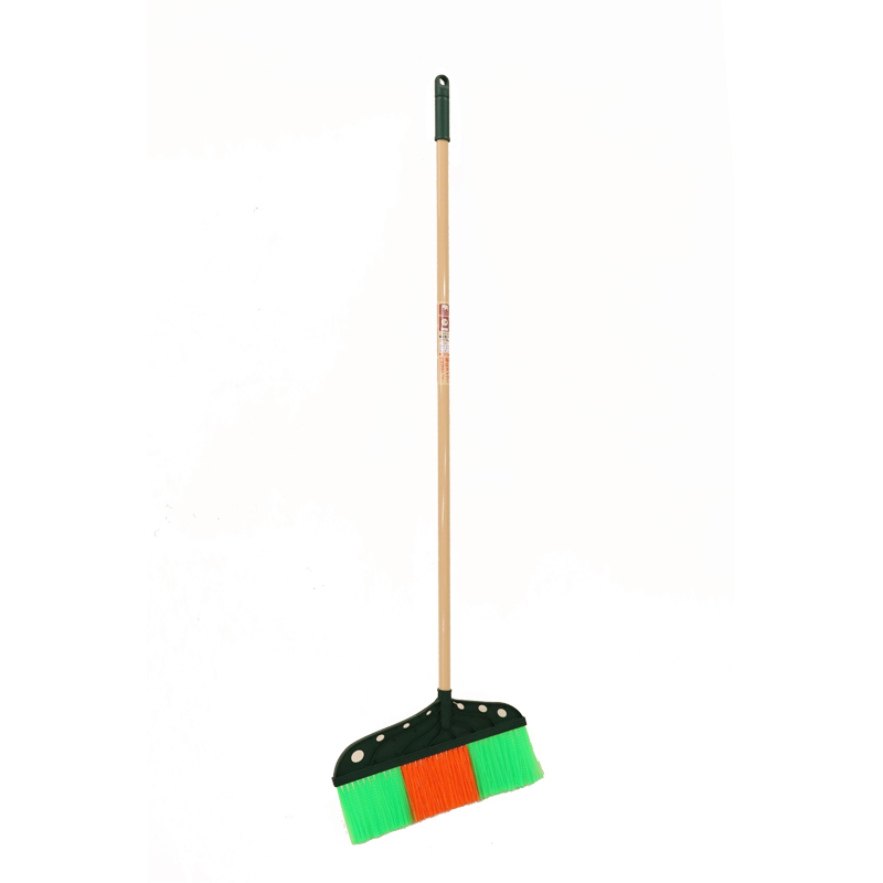 【清掃作業用品-レーキ・熊手(くまで)・ホーキ】金象 プラホーキ幅広40 1200P柄付