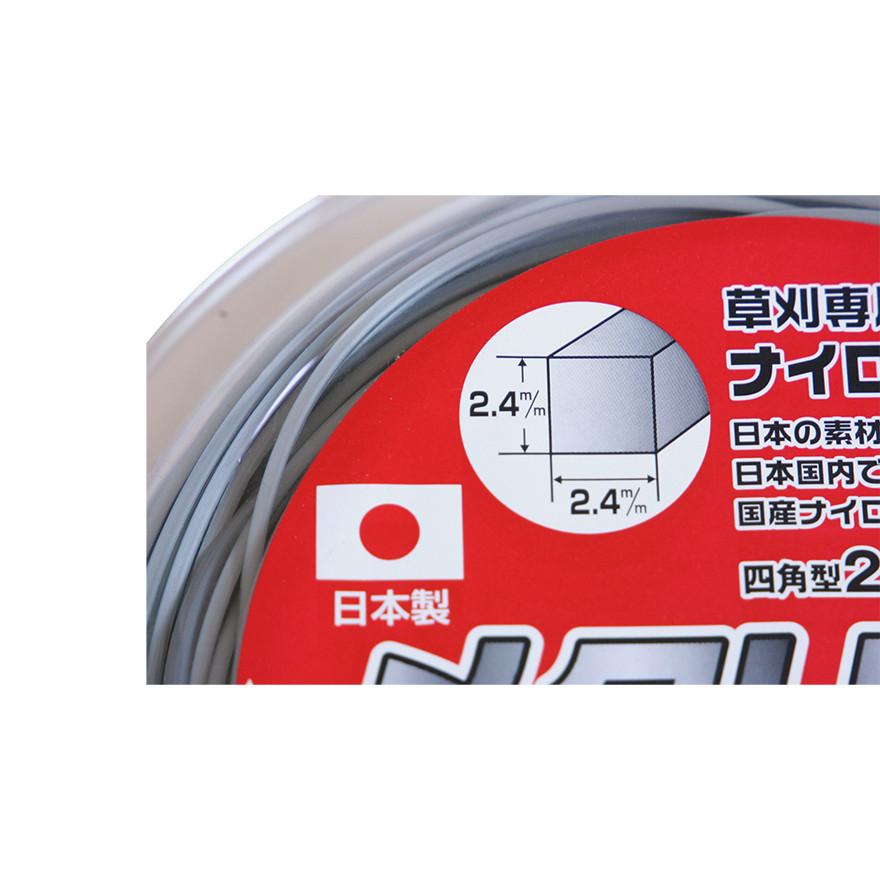 【刈払機パーツ -ナイロンコード】金象メタリックコード 2.4角×100m