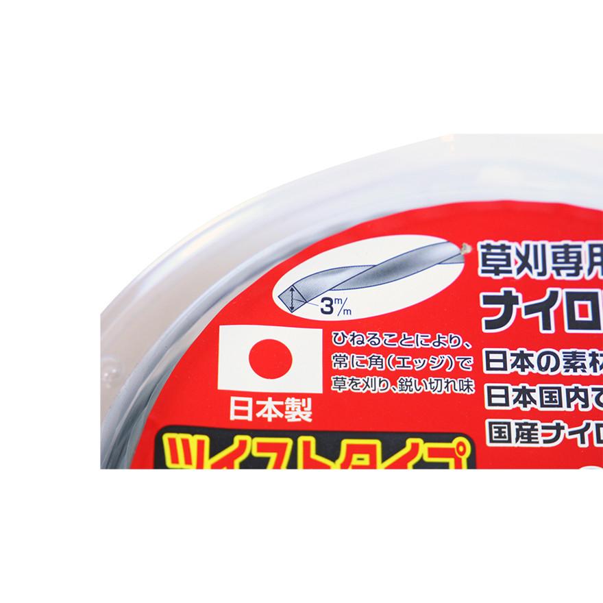 【刈払機パーツ -ナイロンコード】金象メタリックツイスト 3×40m