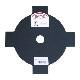 【刈払機パーツ-黒刃】刈払機用黒刃 230×4枚刃