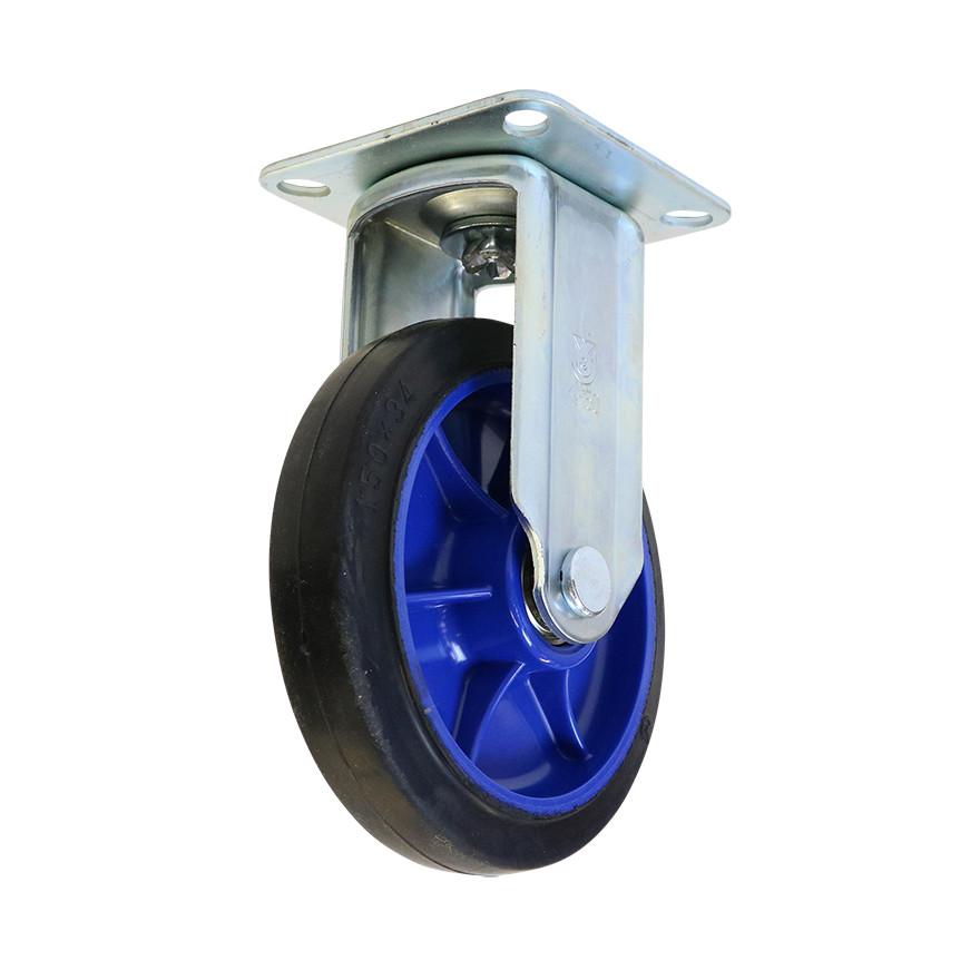 【運搬作業用品-台車部品・キャスター・車輪】ロールボックス用 キャスター 150mm固定車輪