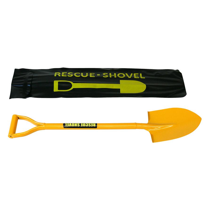 【除雪作業用品-ショベル・スコップ】車載用レスキューショベルバッグ付セット