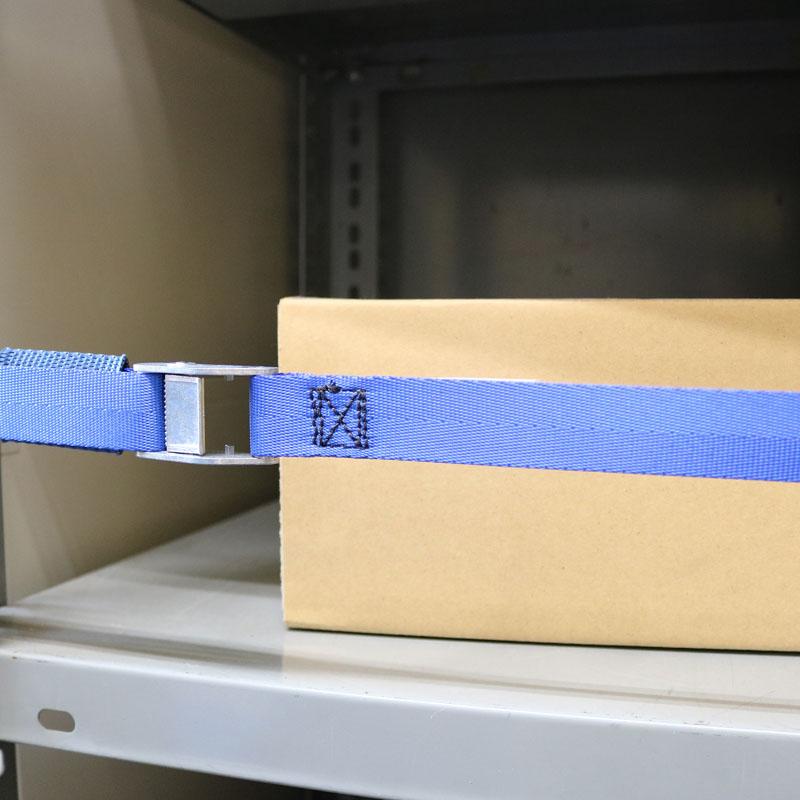 【防災用品-棚用落下防止ベルト】オールセーフ 書棚落下防止ベルト カムバックル式ドロップフック W900仕様 <大型・重量商品>