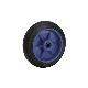 【運搬作業用品-台車部品・キャスター・車輪】キャリーラック小用 キャスター 100mm 車輪のみ
