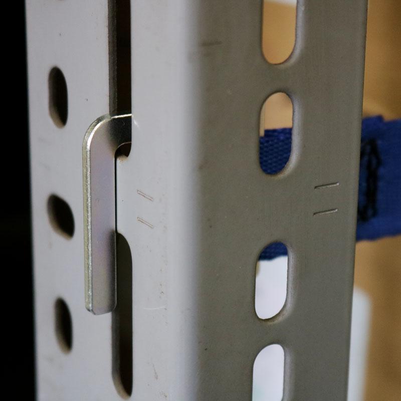 【防災用品-棚用落下防止ベルト】オールセーフ 書棚落下防止ベルト カムバックル式ドロップフック W1800仕様 <大型・重量商品>