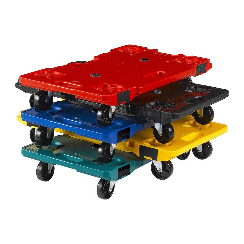 【運搬作業用品-コンパクト台車・平台車】サンコー サンキャリー6839(イエロー) <大型・重量商品>
