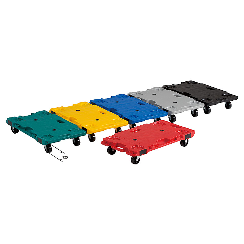 【運搬作業用品-コンパクト台車・平台車】サンコー サンキャリー6839(ライトグレー) <大型・重量商品>