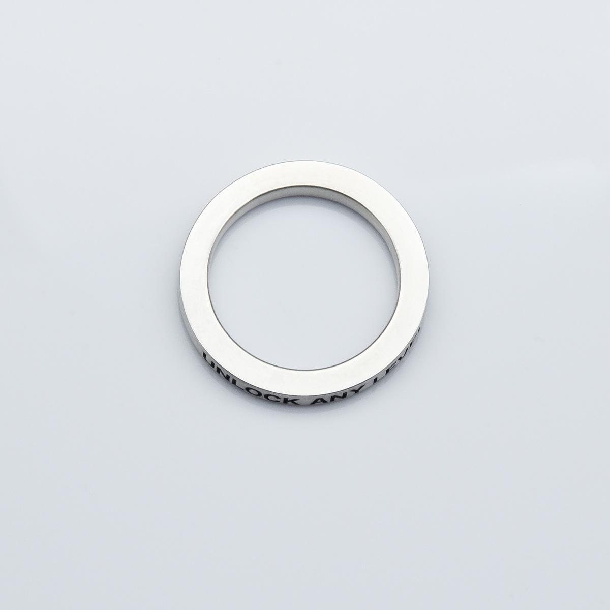 UNLOCK リング 3mm(マット仕上げ)