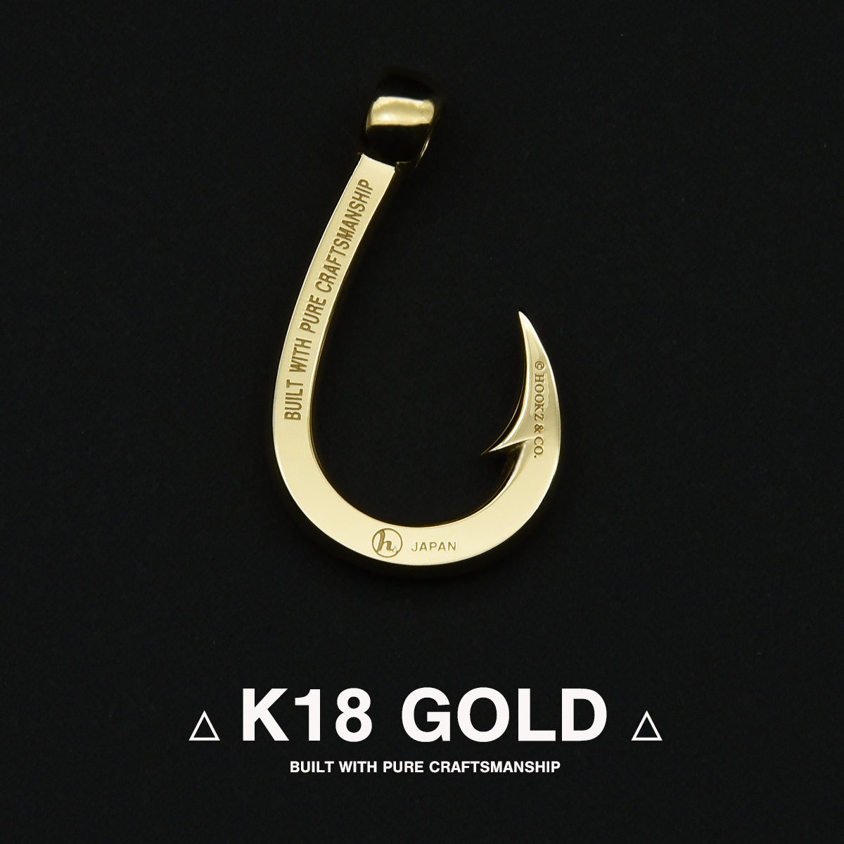 K18ゴールド 釣り針ネックレス