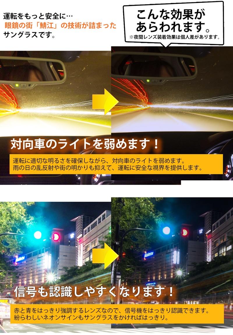 昼夜兼用サングラス ネオコントラスト  (屋外で色が濃くなる調光レンズ型) uvカット 99% 白内障予防 ドライブに!