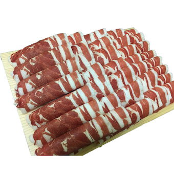 むかわのジビエ すき焼き・しゃぶしゃぶ用スライス肉(肩バラ) 300g入《冷凍品》
