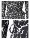 七分袖 カシュクール アニマルプリント マキシ丈 ワンピース モノトーンキリン柄( ジラフ柄)【LA★インポート】-la-jf-op415
