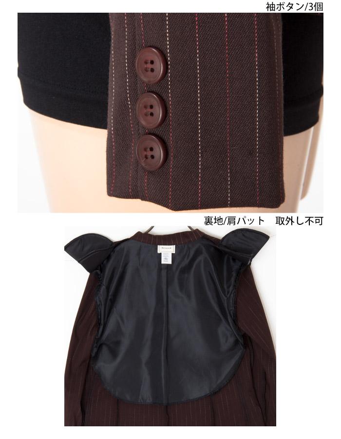 ストライプテーラードジャケット  セットアップ(同素材スカートあり)【LA★インポート】-la-rs-jk033