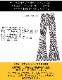 ゼブラ柄 ハイウエスト ベルボトムパンツ【LA直輸入★インポート】 -la-bd-pt087