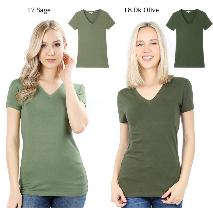 tシャツ vネック 半袖 美ライン Vネック 透けないTシャツ レディース 大きいサイズ 無地 ティーシャツ -te001-n