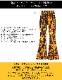 フレイムス柄 ファイヤーパターン ハイウエスト ベルボトムパンツ【LA直輸入★インポート】 -la-bd-pt077
