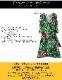 七分袖カシュクールプリントワンピース【LA直輸入★インポート】-la-jf-op411
