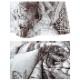 古代彫刻柄 マーブル柄 ハイウエスト ベルボトム フレアーパンツ アートピクチャープリント -la-bd-pt101
