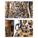 七分袖ヒョウ柄カシュクールマキシワンピース【LA直輸入★インポート】-ls-jf-op308
