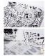 ニュースペーパー柄ハイウエスト ベルボトム パンツ【LA直輸入★インポート】 -la-bd-pt102