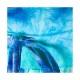 タイダイ柄プリントブルー ハイウエストワイドパンツ レギンスデポ Leggings Depot USA【LA★インポート】 -la-lvi-pt146