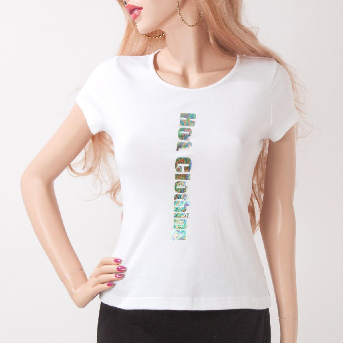 HotClothingオリジナル オーロラロゴマーク入り ラウンドネックTシャツ -hot-tp8233