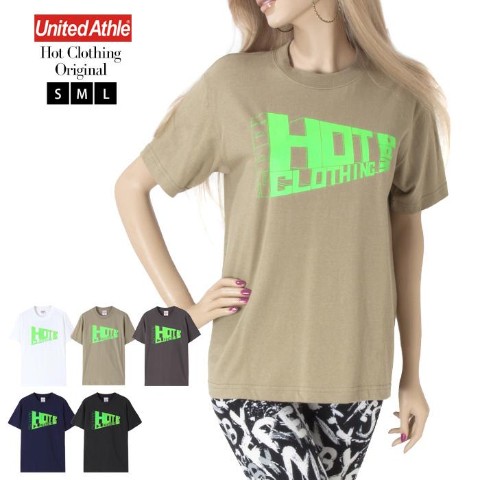 Mens HotClothingオリジナル ロゴプリントTシャツ Mens -hot-t006