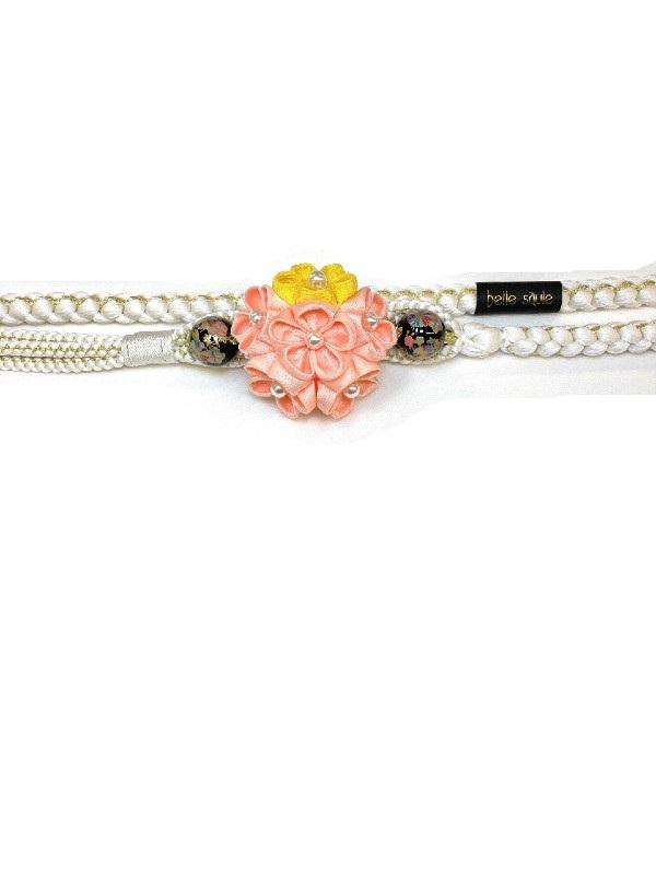 帯締め つまみ桜飾り