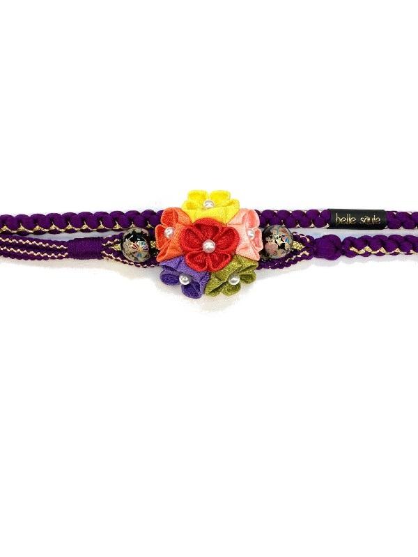帯締め つまみ色花