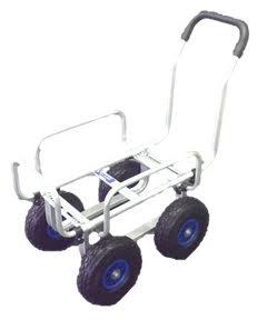 シンセイ 伸縮アルミハウスカー(10インチ ノーパンクタイヤ) TC4503AL-PU