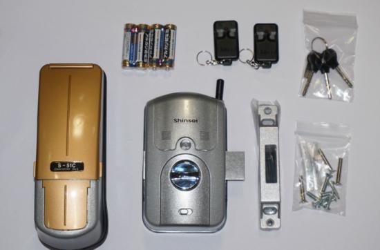 S-51C2R 指紋認証式電子錠(補助錠)リモコン付き