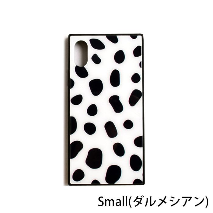 [スマホケース/iPhoneケース]【Black White Pattern Glass iPhone Case】うし・牛柄・ミルク・牛乳・ダルメシアン・スクエア・背面ガラス・強化ガラス・iphone6・Plus・iphone7・iPhone8/SE・iphoneX・XS・XR・iphone11・11Pro[18A]■メール便で送料無料■[M便 1/3][YP2]