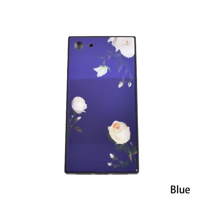 [スマホケース/iPhoneケース]【Square Corners Tempered Glass Rose Floral】フラワー・ローズ・バラ・レトロ・スクエア・保護・背面ガラス・iphone6・iPhone6s・Plus・iphone7・iPhone8/SE・iphoneX 対応・携帯電話ケース[18S]■メール便で送料無料■[M便 1/3][YP2]