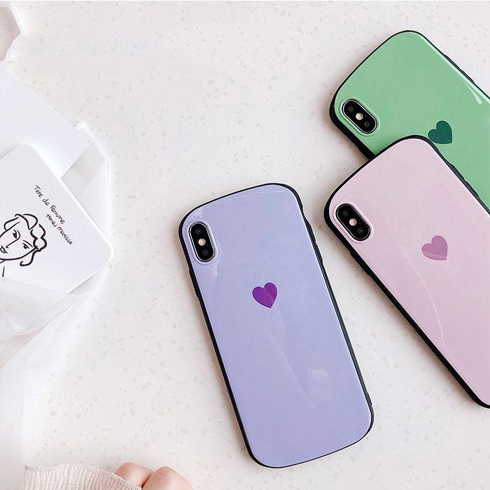 [スマホケース/iPhoneケース]【Mini Pastel Heart iPhone case】ハート・パステルカラー・ソフト・iphone7・iPhone8/SE・Plus・X・Xs・XR 対応・携帯電話ケース[19S]■メール便で送料無料■[M便 1/3][YP2]