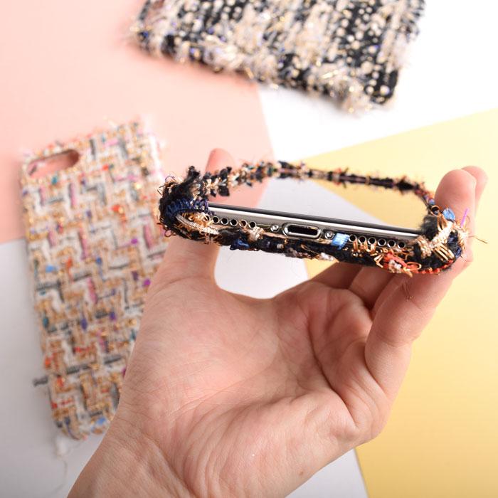 [スマホケース/iPhoneケース]【Twinkle Color Mix Tweed iphone case】キラキラ ラメ カラー ミックス ツイード 羊毛 織物 ファッション ケース・iphone6・iPhone6s・Plus・iphone7・iPhone8/SE・X 対応・ソフト・TPU・携帯電話ケース■メール便で送料無料■[M便 1/3][YP2]