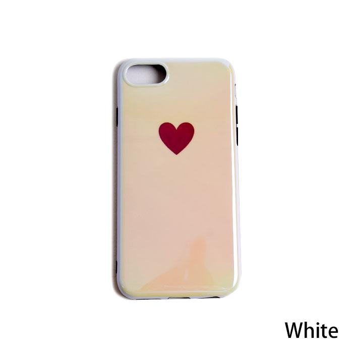 [スマホケース/iPhoneケース]【Heart Mirror Soft TPU iPhone Case】ハート・ラブ・ソフトTPU・オーロラ・ホログラム・ツヤ・レッド・ホワイト・iphone6・iPhone6s・Plus・iphone7・iPhone8/SE・iphoneX 対応・携帯電話ケース[18S]■メール便で送料無料■[M便 1/3][YP2]
