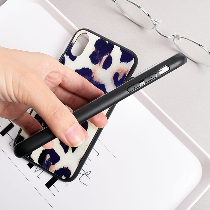 [スマホケース/iPhoneケース]【Luxury Leopard Print iPhone Case】ヒョウ柄・レオパード・強化ガラス・iPhone8/SE・Plus・iphoneX・XR 対応・携帯電話ケース[18A]■メール便で送料無料■[M便 1/3][YP2]