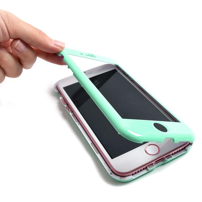 [スマホケース/iPhoneケース]【Tempered Glass Magnet iPhone Case】磁気・マグネット・バンパー・保護・背面ガラス・無地・シンプル・iPhone8/SE・iphoneX 対応・携帯電話ケース[18A]■メール便で送料無料■[M便 1/3][YP2]