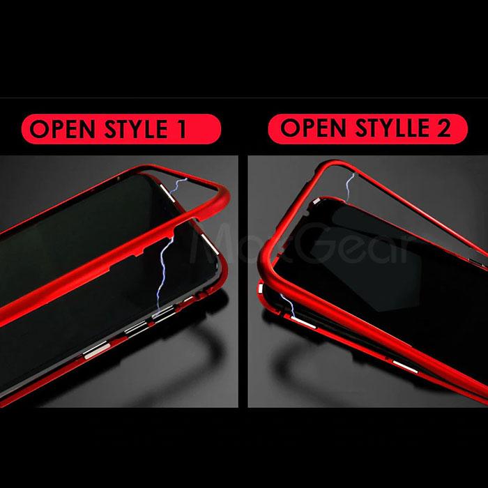 [スマホケース/iPhoneケース]【Tempered Glass Magnet Phone Case】磁気・マグネット・バンパー・保護・背面ガラス・シェル・シンプル・メタリック・iPhone7・7Plus・iPhone8 対応・携帯電話ケース[18A]■メール便で送料無料■[M便 1/3][YP2]