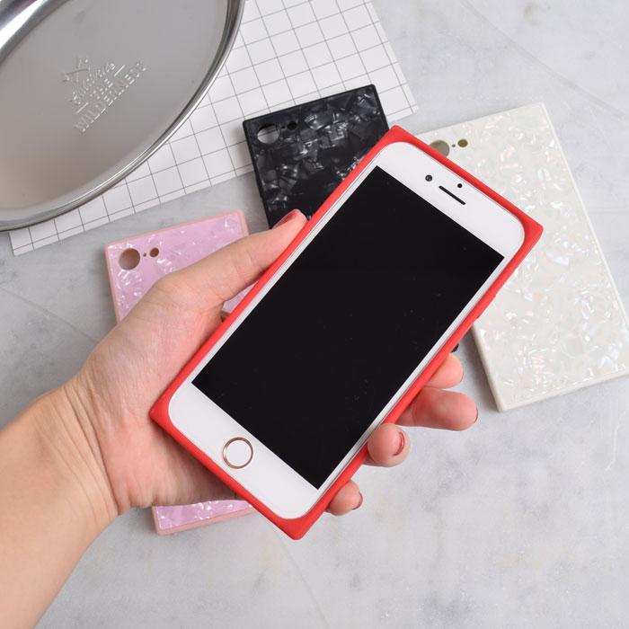 [スマホケース/iPhoneケース]【Shell Conch Tempered Glass Phone Case】シェル・貝・キラキラ・パール・スクエア・背面ガラス・強化ガラス・iphone7・iPhone8/SE・Plus・iphoneX 対応・携帯電話ケース[18S]■メール便で送料無料■[M便 1/3][YP2]