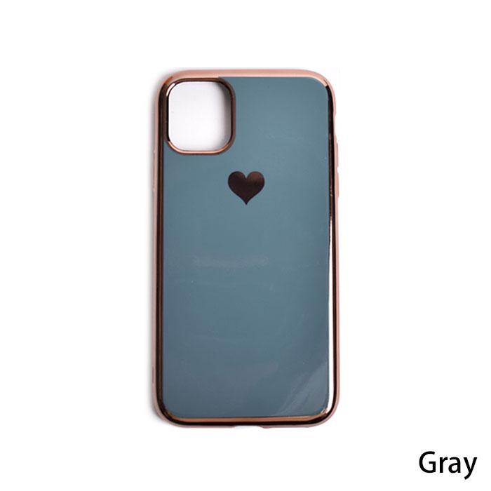 [スマホケース/iPhoneケース]【Plating Love Heart Soft iPhone Case】ハート ソフトTPU シンプル メタリック 高級 おしゃれ iPhoneX・XR・iPhone11・11Pro 携帯電話ケース■メール便で送料無料■[M便 1/3][YP2]