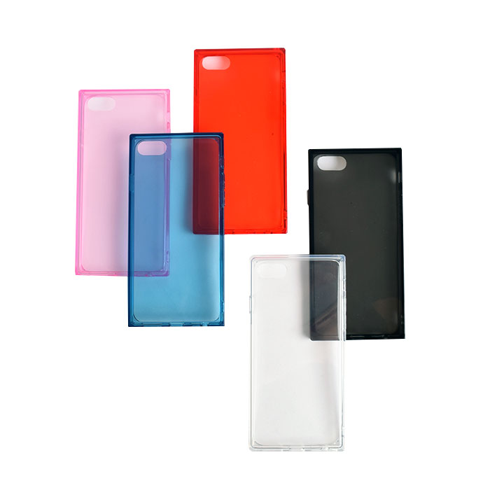[スマホケース/iPhoneケース]【Transparent Square iPhone Case】クリア・無地・透明・スクエア・ソフトTPU・iphone6・iPhone6s・Plus・iphone7・iPhone8/SE・iphoneX・iphone11・11Pro・11ProMax 対応・携帯電話ケース[18A]■メール便で送料無料■[M便 1/3][YP2]