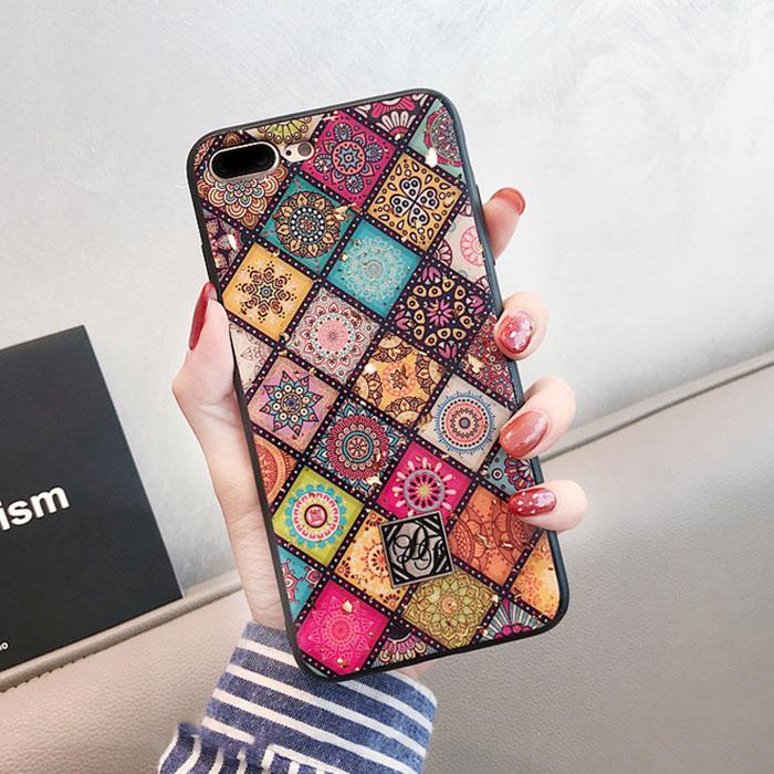 [スマホケース/iPhoneケース]【Geometric Art Lattice Phone Case】エスニック柄 モロッカンタイル ボヘミアン フォークロア iphoneX iphone11 携帯ケース[20S]■メール便で送料無料■[M便 1/3][YP2]