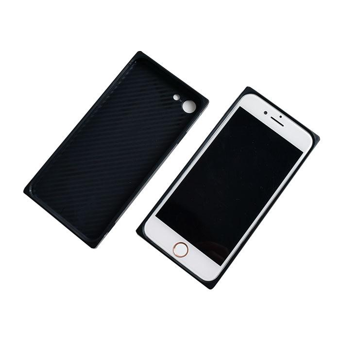 [スマホケース/iPhoneケース]【Milk Cow Point Pattern Soft TPU Square iPhone Case】うし・牛柄・ミルク・牛乳・カウ・キュート・ハート・iphone6・iPhone6s・Plus・iphone7・iPhone8/SE・iphoneX 対応・携帯電話ケース[18A]■メール便で送料無料■[M便 1/3][YP2]